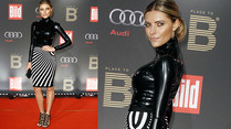 Sophia Thomalla im hautengen Latex-Look auf Berlinale-Party