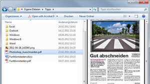 Windows-Vorschau: Word-Dateien im Windows Explorer lesen