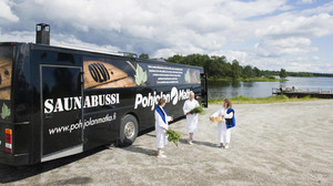 Sauna-Bus in Finnland