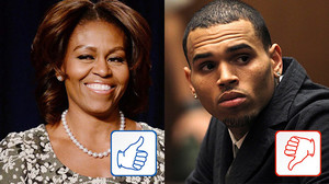 Top & Flop des Tages: Michelle Obama und Chris Brown