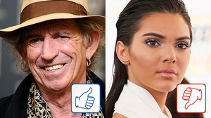 Keith Richards und Kendall Jenner: Top & Flop des Tages