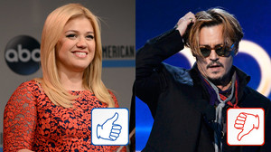 Kelly Clarkson und Johnny Depp: Top & Flop des Tages