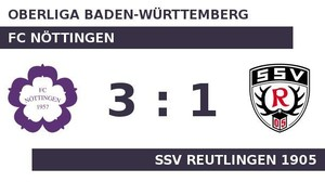 FC Nöttingen gegen SSV Reutlingen 1905: Nöttingen gut in Form